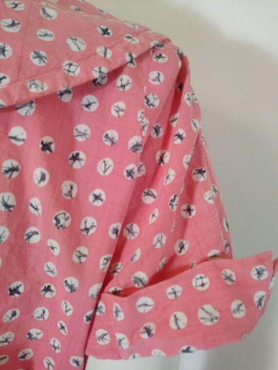 Vintage 40s cotton dress / 40s house dress / 40s … - image 6