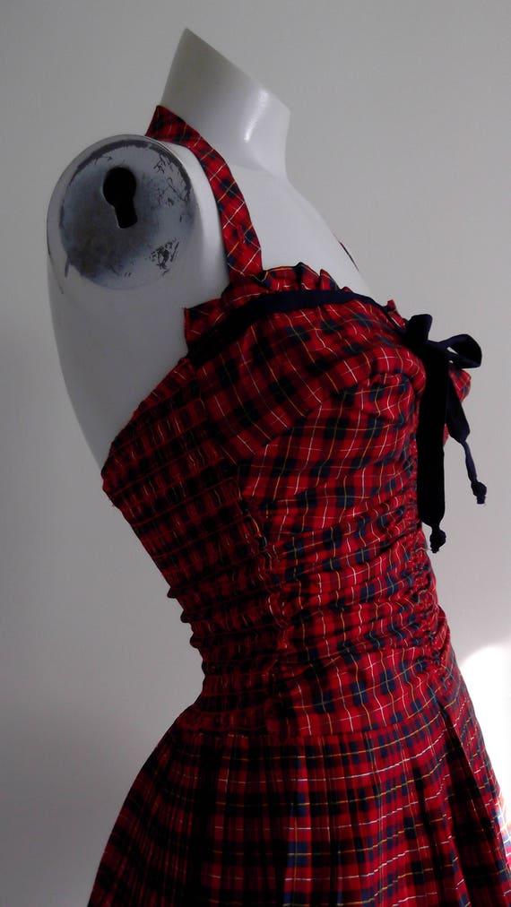 vintage 50s SwimSuit / 50s Bullet bra bust Pin Up… - image 6