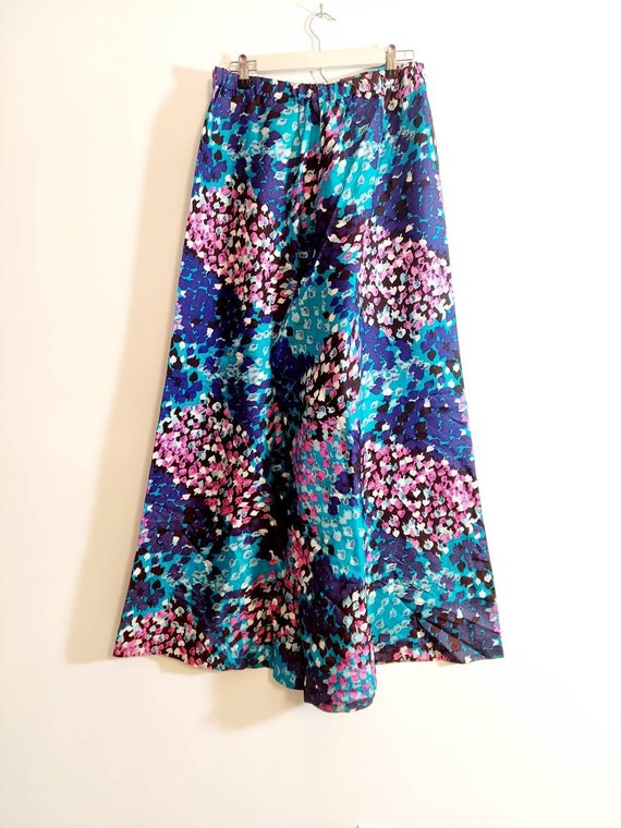 Vintage 60s Psychedelic palazzo pants / 60s 70s w… - image 4