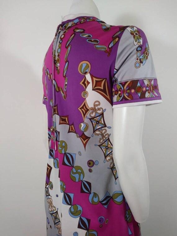 70s signed Saul dress / Pucci print style dress /… - image 7