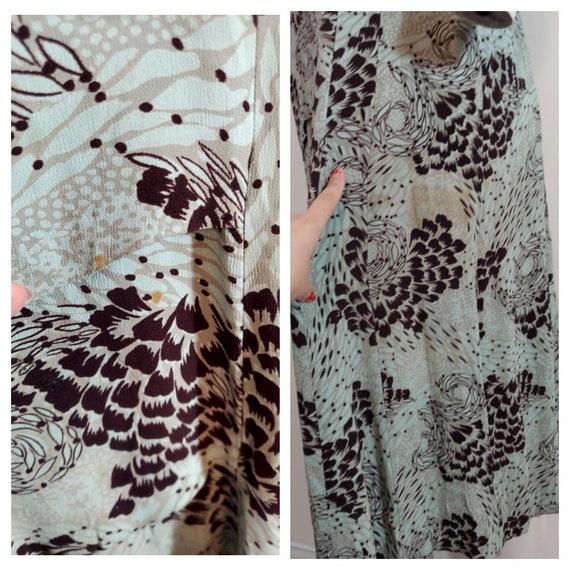 Vintage 40s rayon dress / 40s novelty print dress… - image 10
