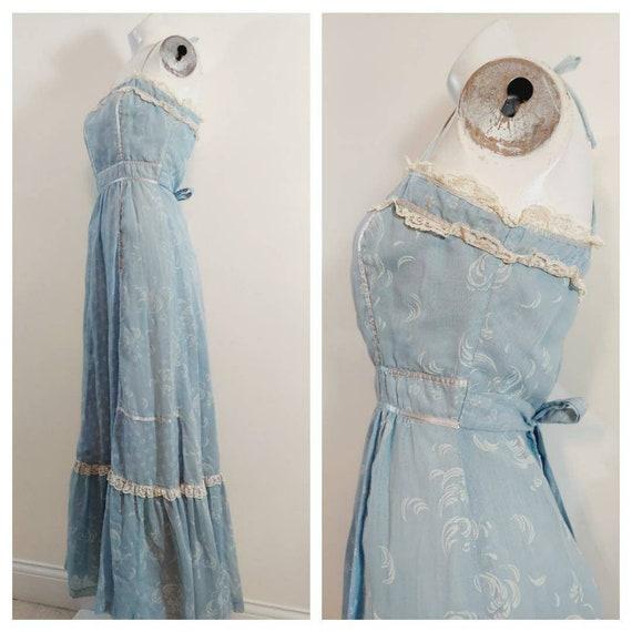 vintage Candi Jones dress  / 70s boho dress / gun… - image 6