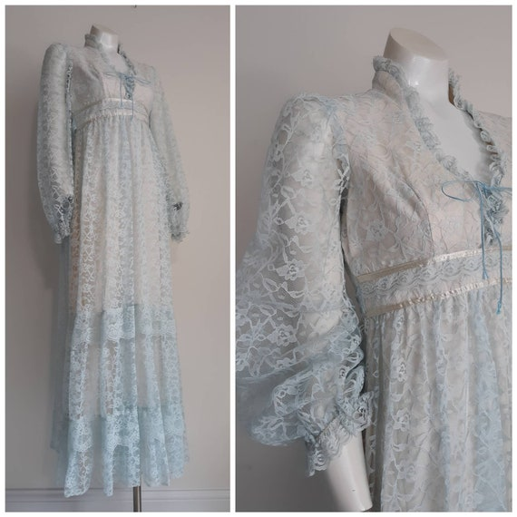 70s prairie dress / 70s does victorian dress inspi