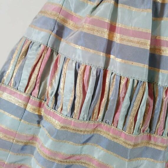 Vintage 50s cotton candy halter dress / 50s party… - image 5