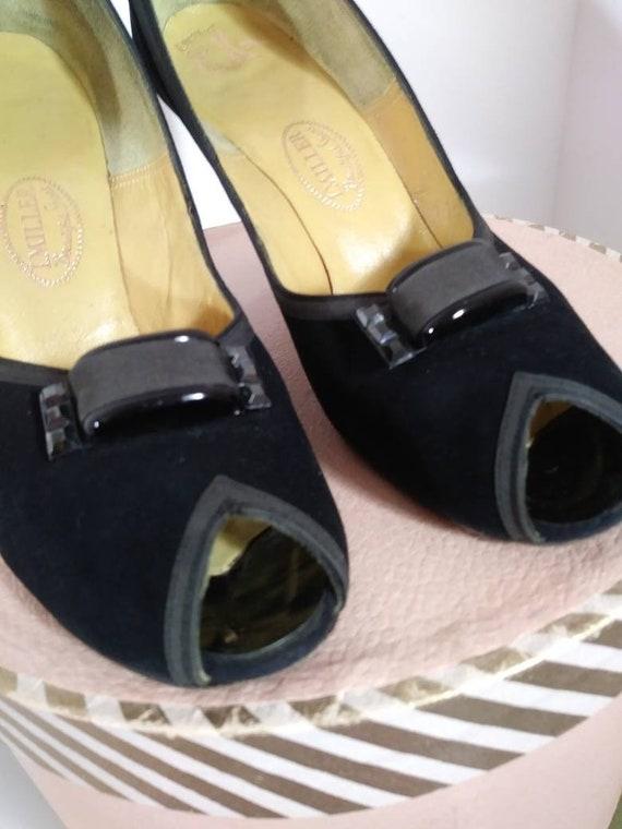 Vintage 50s heels / 50s Peep Toe Heels / vintage … - image 4