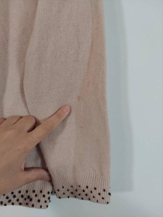 Vintage 50s cardigan / 50s angora sweater / 50s p… - image 9