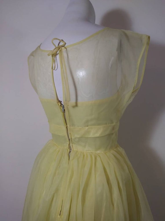 Vintage 50s party dress / 50s yellow dress / 50s … - image 7