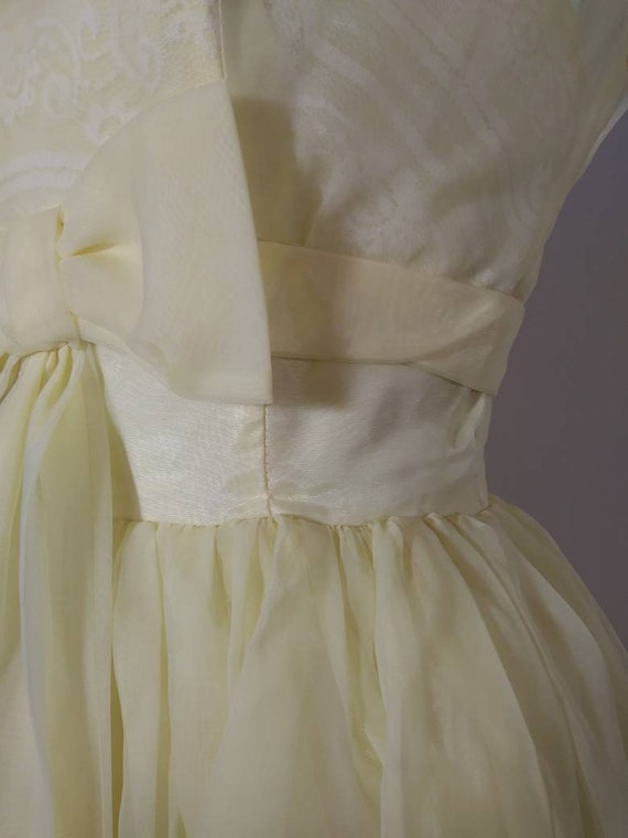 Vintage 50s party dress / 50s yellow dress / 50s … - image 5