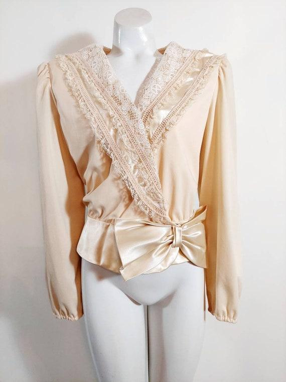 Vintage 70s does Victorian blouse / Gunne Sax ERA
