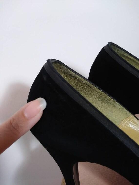 Vintage 50s heels / 50s Peep Toe Heels / vintage … - image 9