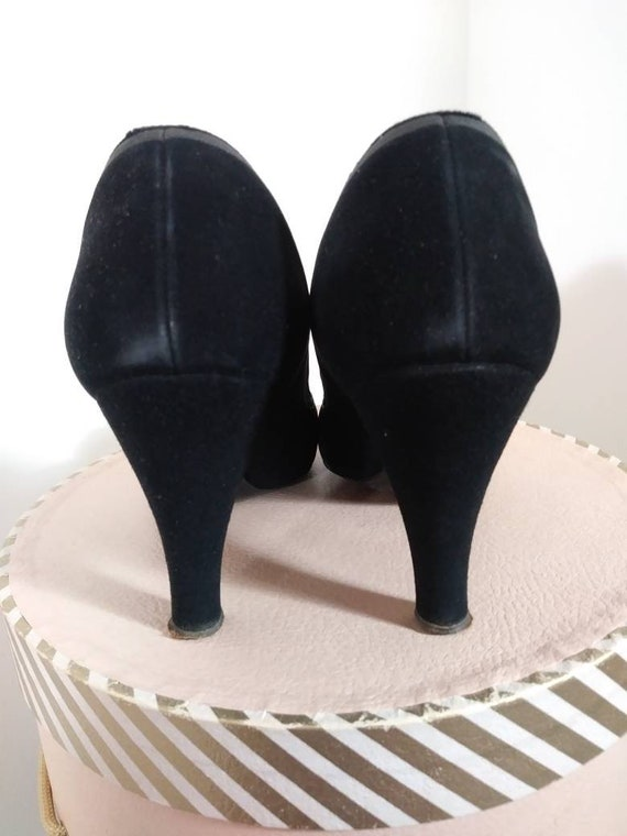 Vintage 50s heels / 50s Peep Toe Heels / vintage … - image 7