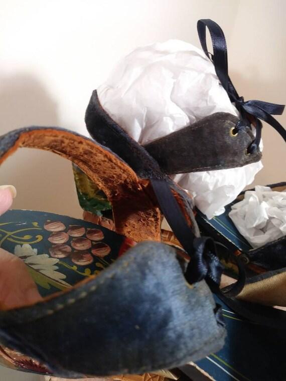Vintage 40s platform sandals / 40s 50s Shoes / 40… - image 6