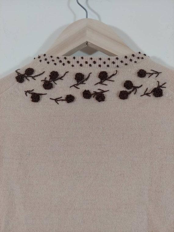 Vintage 50s cardigan / 50s angora sweater / 50s p… - image 7