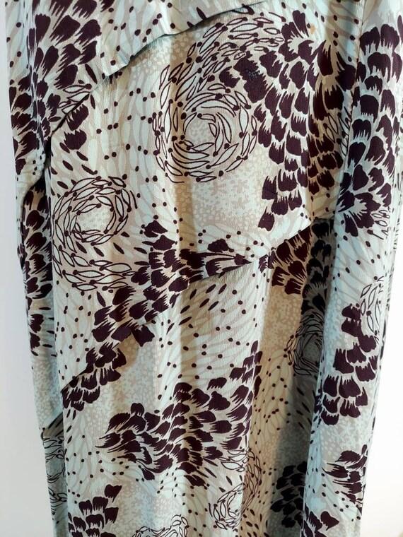 Vintage 40s rayon dress / 40s novelty print dress… - image 5