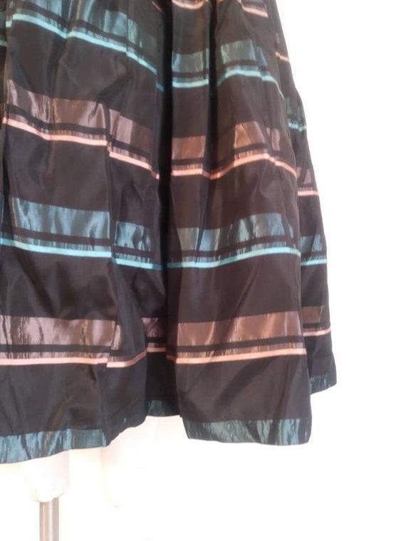Vintage 50s striped skirt / 50s pleated skirt / 5… - image 6
