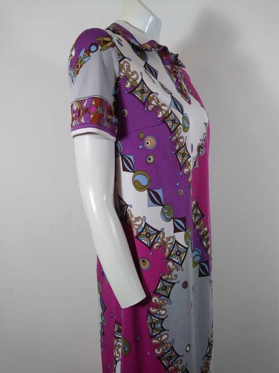 70s signed Saul dress / Pucci print style dress /… - image 5