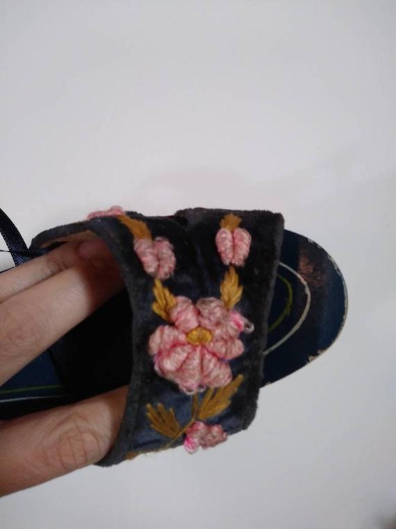 Vintage 40s platform sandals / 40s 50s Shoes / 40… - image 5