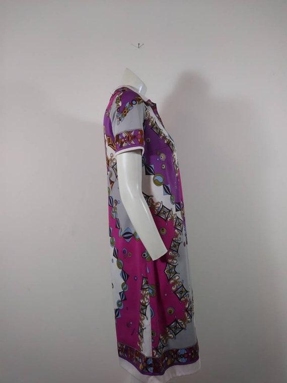 70s signed Saul dress / Pucci print style dress /… - image 6
