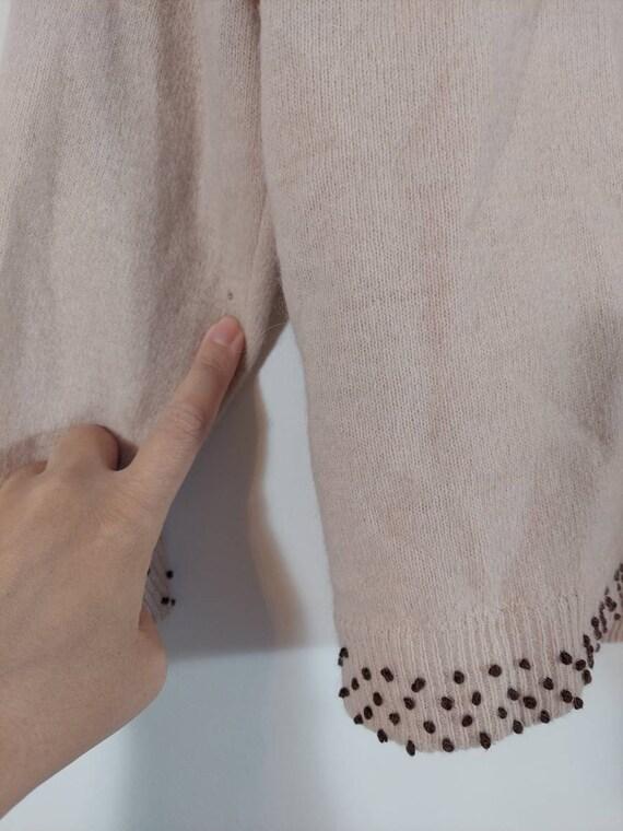 Vintage 50s cardigan / 50s angora sweater / 50s p… - image 10
