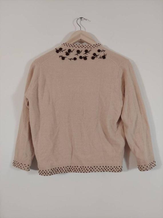 Vintage 50s cardigan / 50s angora sweater / 50s p… - image 8