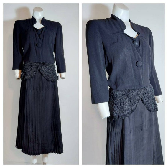 Vintage 40s suit / 40s jacket blouse skirt set / 4