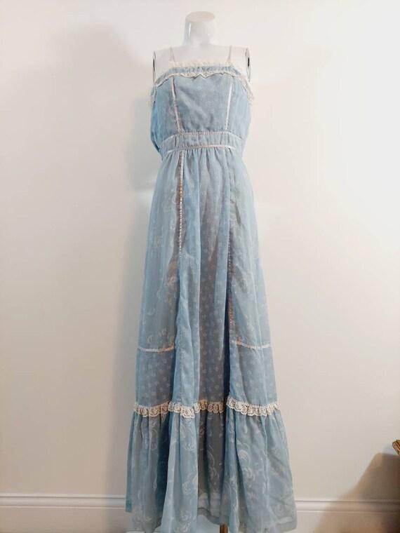 vintage Candi Jones dress  / 70s boho dress / gun… - image 4