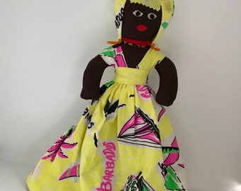 Vintage Souvenir Rag Doll Barbados