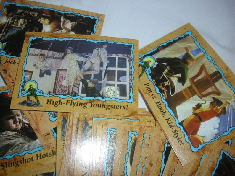 HOOK Trading Cards Vintage Collectible Movie Cards Retro Kids