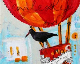 Joy to the World - HOLIDAY ART CARD - ecofriendly