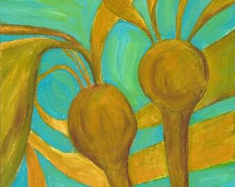 bull kelp - ART CARD - ecofriendly