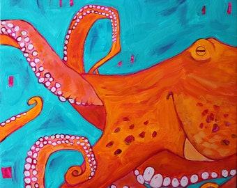 octopus - ART CARD - ecofriendly