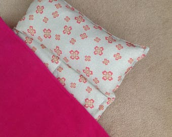 Nap Mat. Girls, Personalized free,  Great for Daycare, Preschool or Kindergarten. Soft blue with flowers