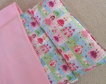 Nap Mat. Girls, Personalized free,  Great for Daycare, Preschool or Kindergarten. Fairytale Princess