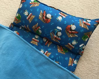 Personalized Nap Mat, Great for daycare, preschool or kindergarten.  Thomas the train. Boys