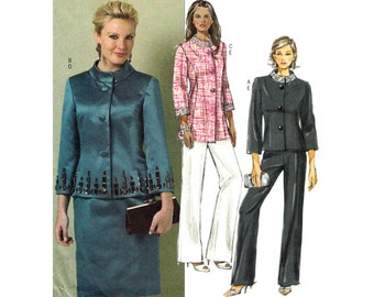 Jacket Skirt Pants Pattern Butterick 5427 Size 14 16 18  20 Skirt or Pants Suit Women Easy Sewing Pattern UNCUT