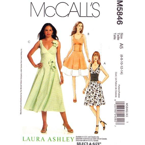Fit und Streulicht Kleid Schnittmuster McCalls 5846 Laura | Etsy