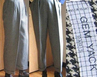 Gem Yack 1980's Wool Houndstooth Pants