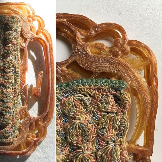 Vintage Shell Crochet Purse - image 3