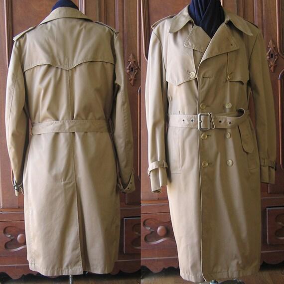 Men's Traditional Kahki Trench Coat