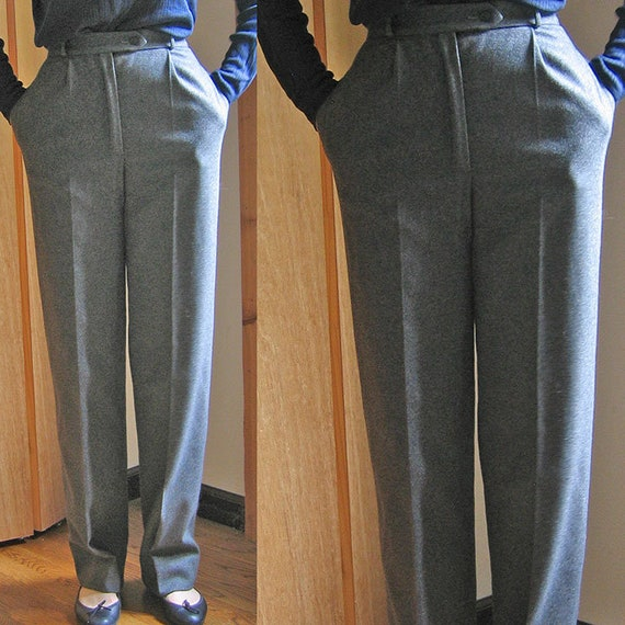 Valentino Boutique Grey Wool Pants