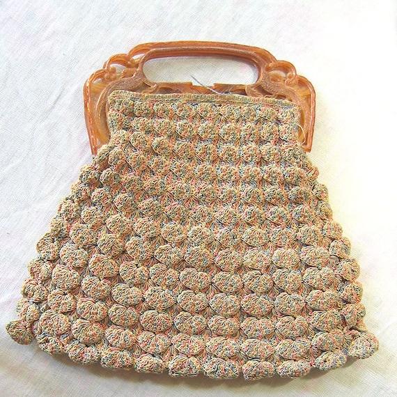 Vintage Shell Crochet Purse - image 1