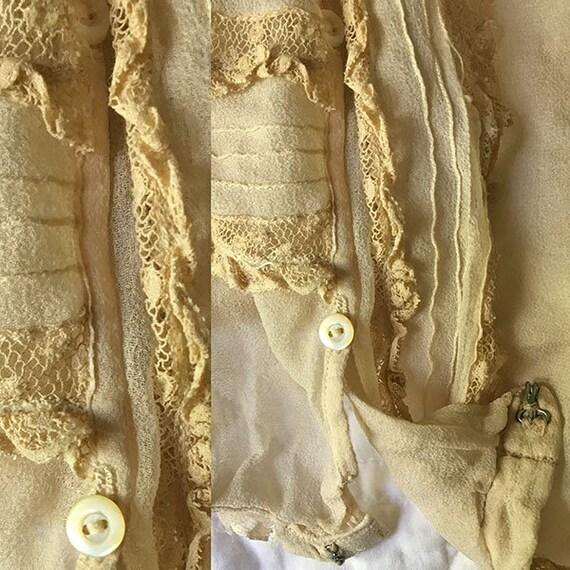 Antique Blouse Chiffon and Lace - image 6