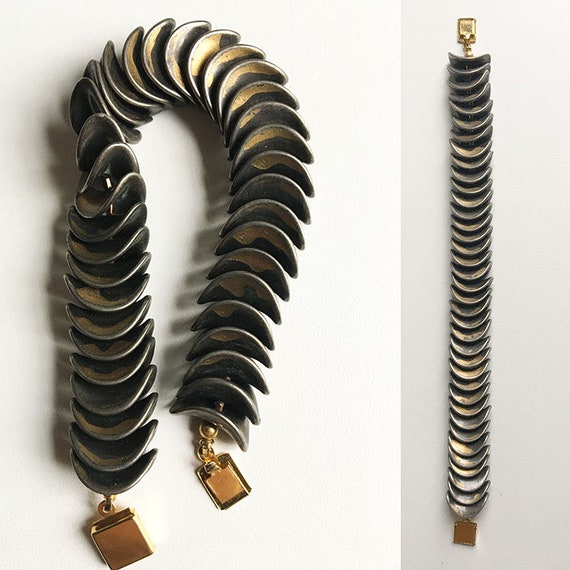 Vintage Bracelet Skeleton Slinky Scales