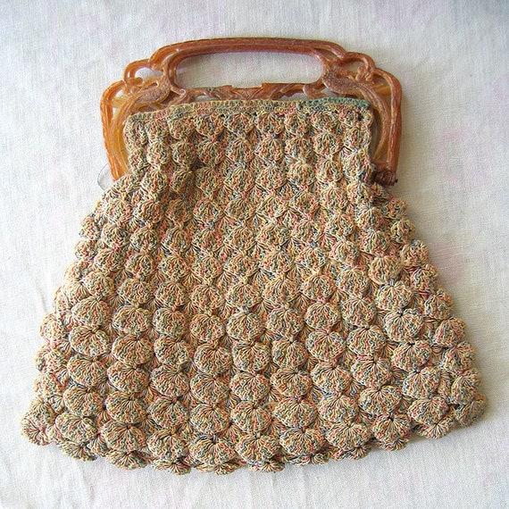 Vintage Shell Crochet Purse - image 9