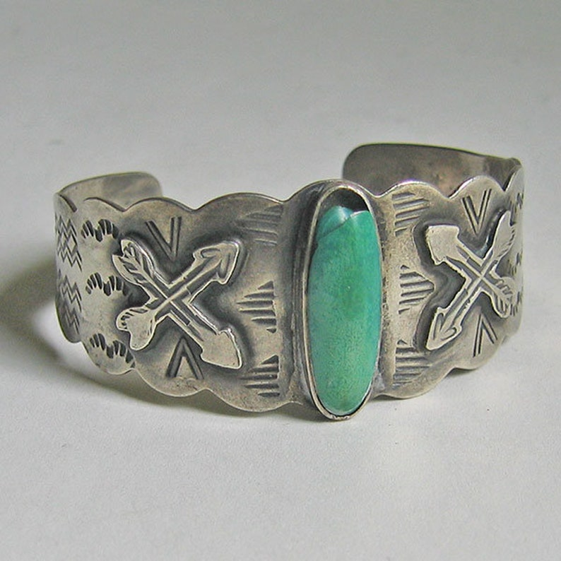 Desert Gem Cuff Bracelet Sterling Silver Turquoise Stone