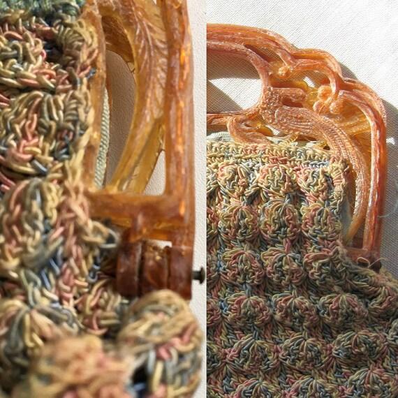 Vintage Shell Crochet Purse - image 4