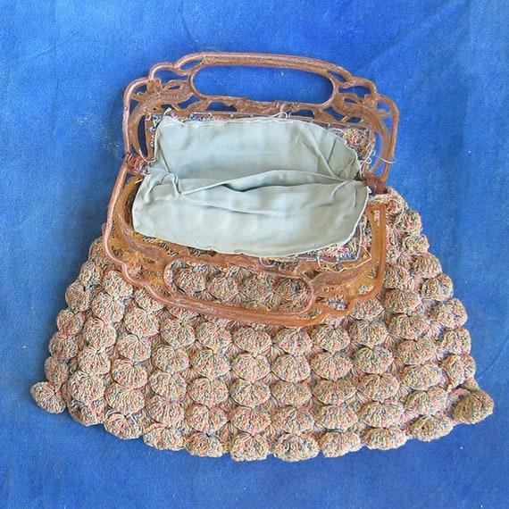 Vintage Shell Crochet Purse - image 2
