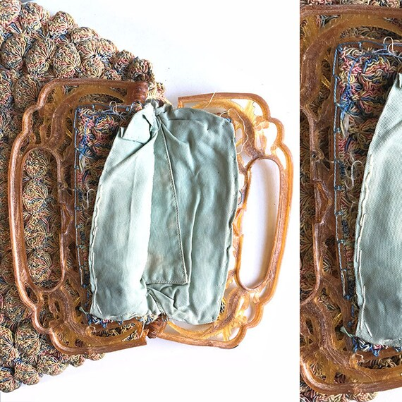 Vintage Shell Crochet Purse - image 7