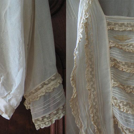 Antique Blouse Chiffon and Lace - image 10