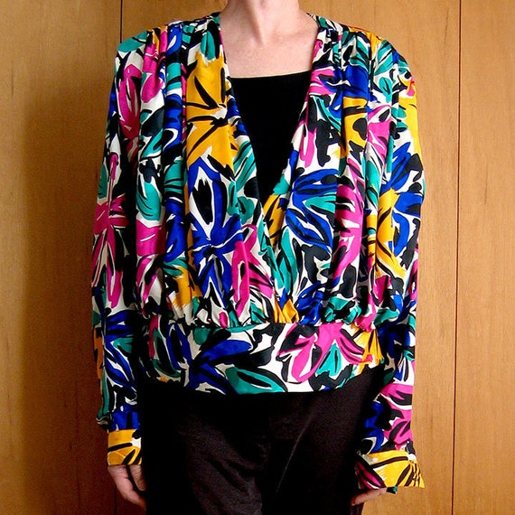 Silk Print Blouse FLORA KUNG ll
